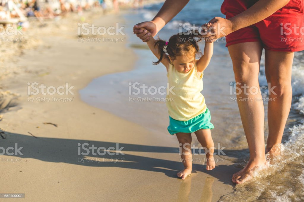 Making first steps royalty-free stock photo
