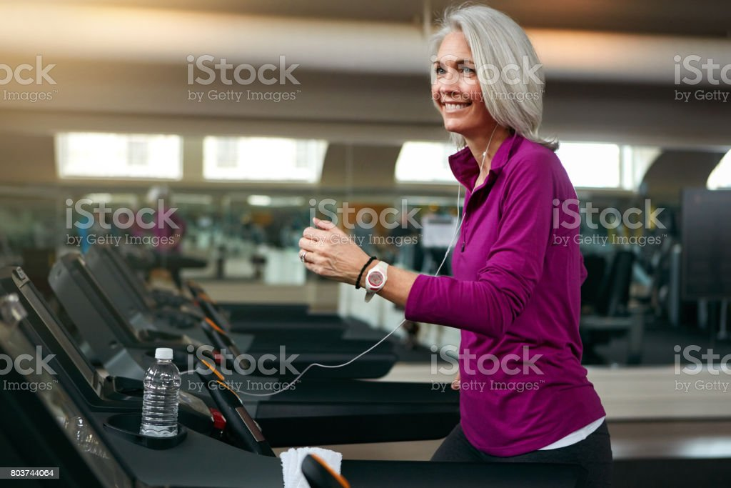 Making fitness a beneficial part of her lifestyle stock photo