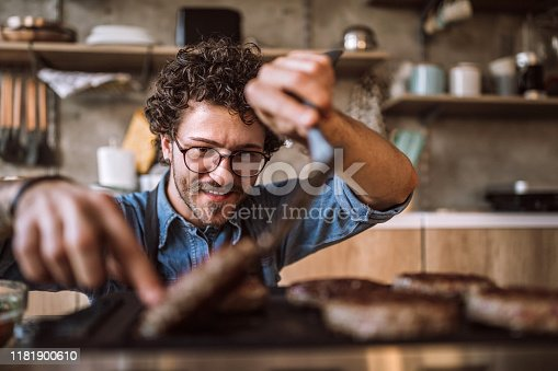 istock Making food is a simple joy for him 1181900610