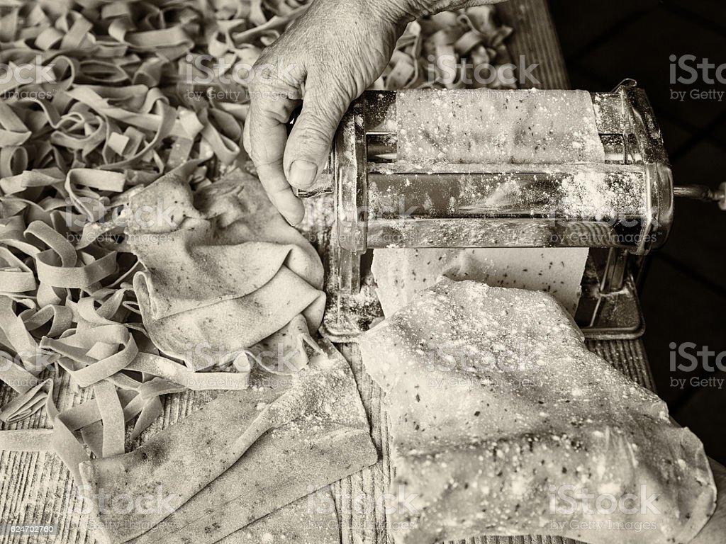 Making Fresh Pasta stock photo