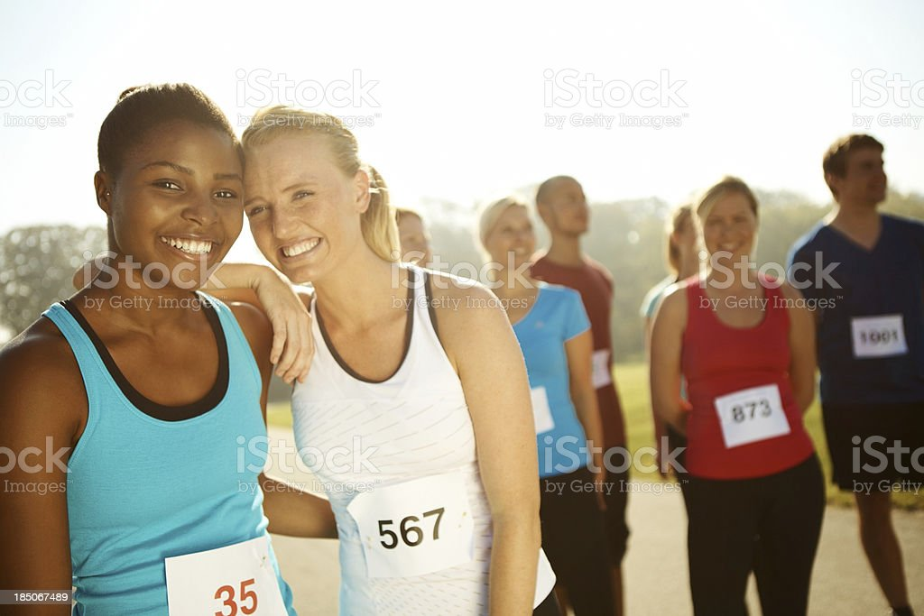 Making friends and keeping fit royalty-free stock photo
