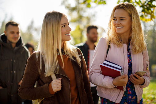 872670290 istock photo Making friends in college 1019565098
