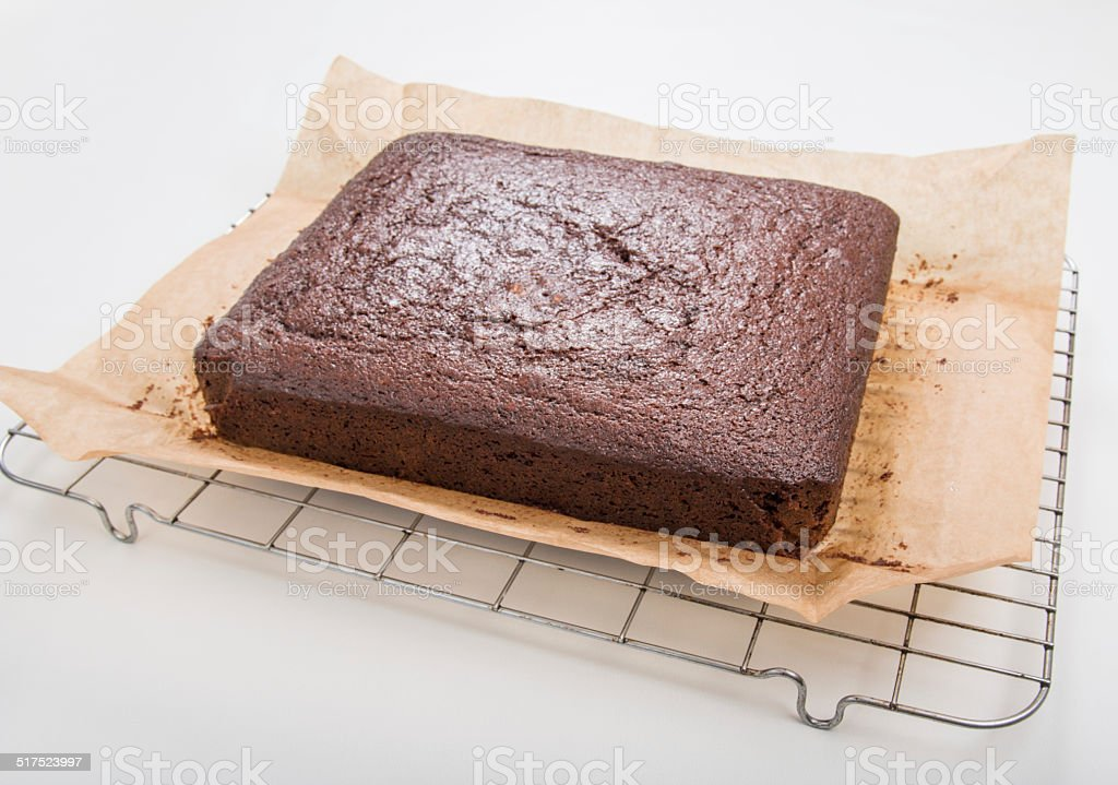 Making gingerbread, cake on cooling wire cooling tray stock photo