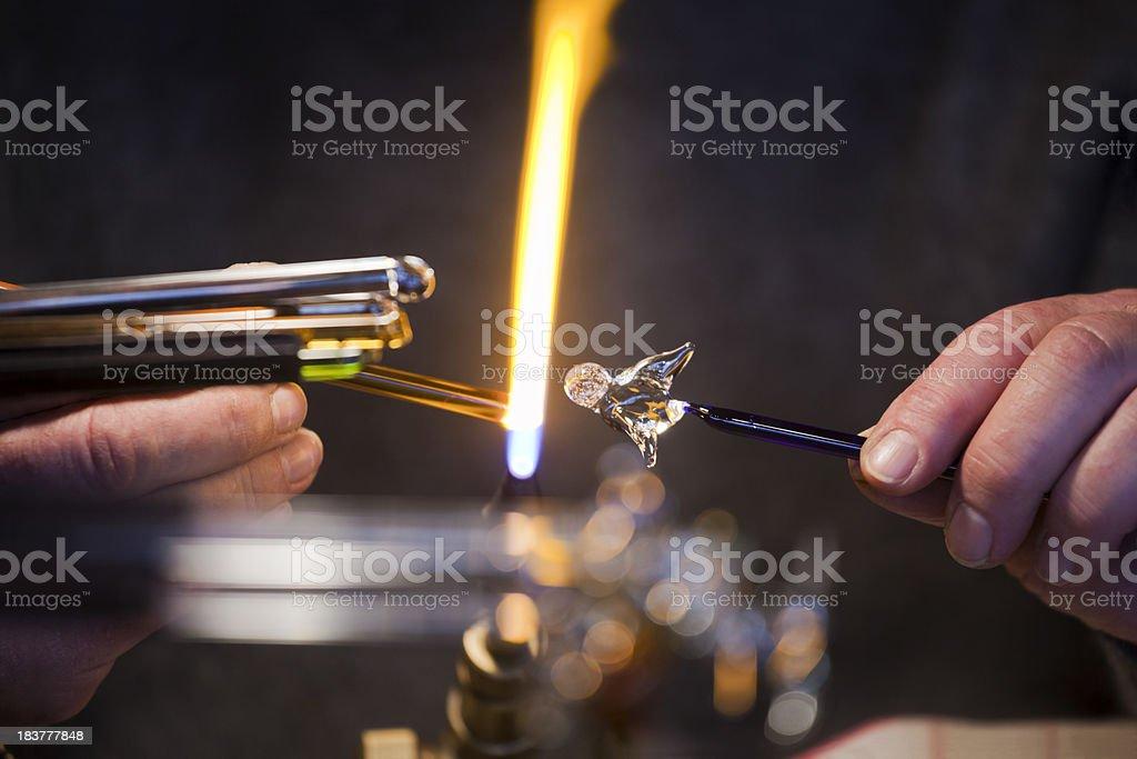 Making Glass Decorations stock photo