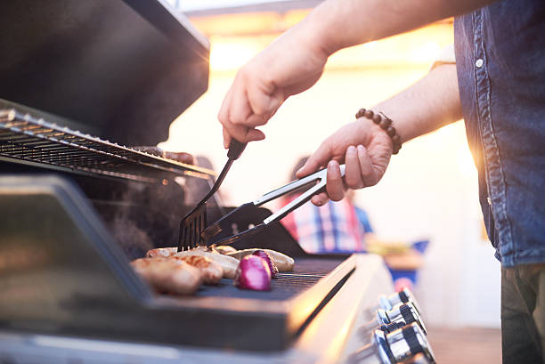 making grilled meat - grilled stock photos and pictures