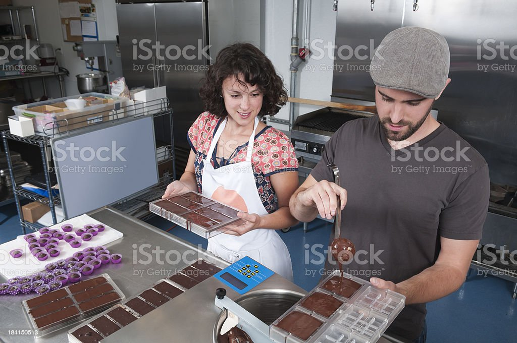 Making Hand Made Chocolates - Series royalty-free stock photo