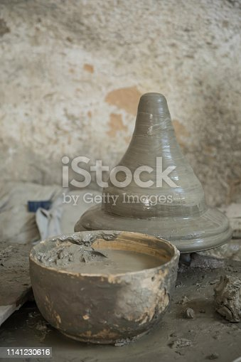 traditional Arabic handcrafted pottery, Fez, Morocco