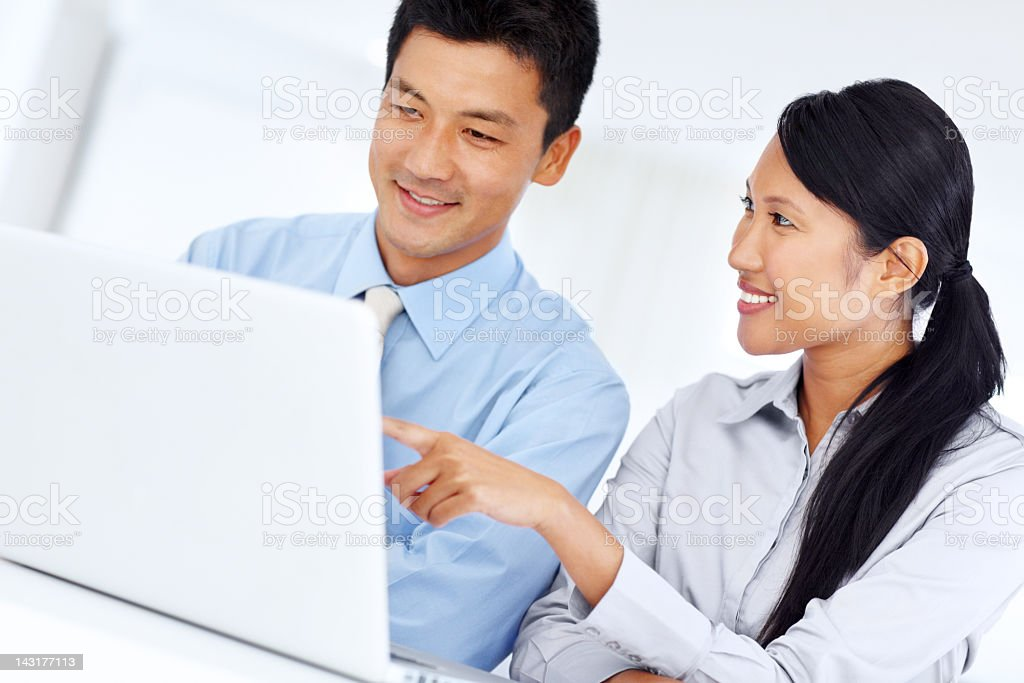 Making headway in their workload - Teamwork royalty-free stock photo
