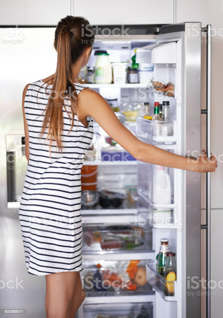 Making healthy choices stock photo