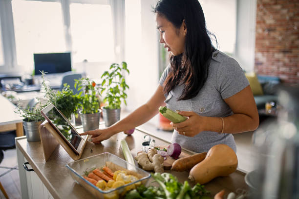 Making healthy meal stock photo
