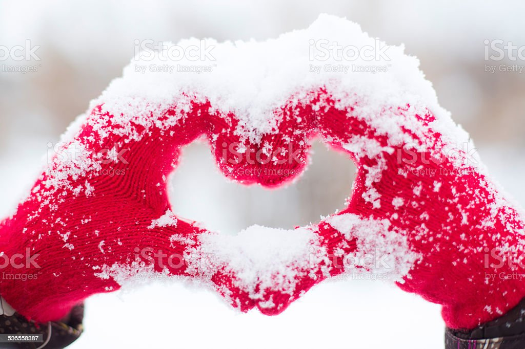 Making heart symbol stock photo