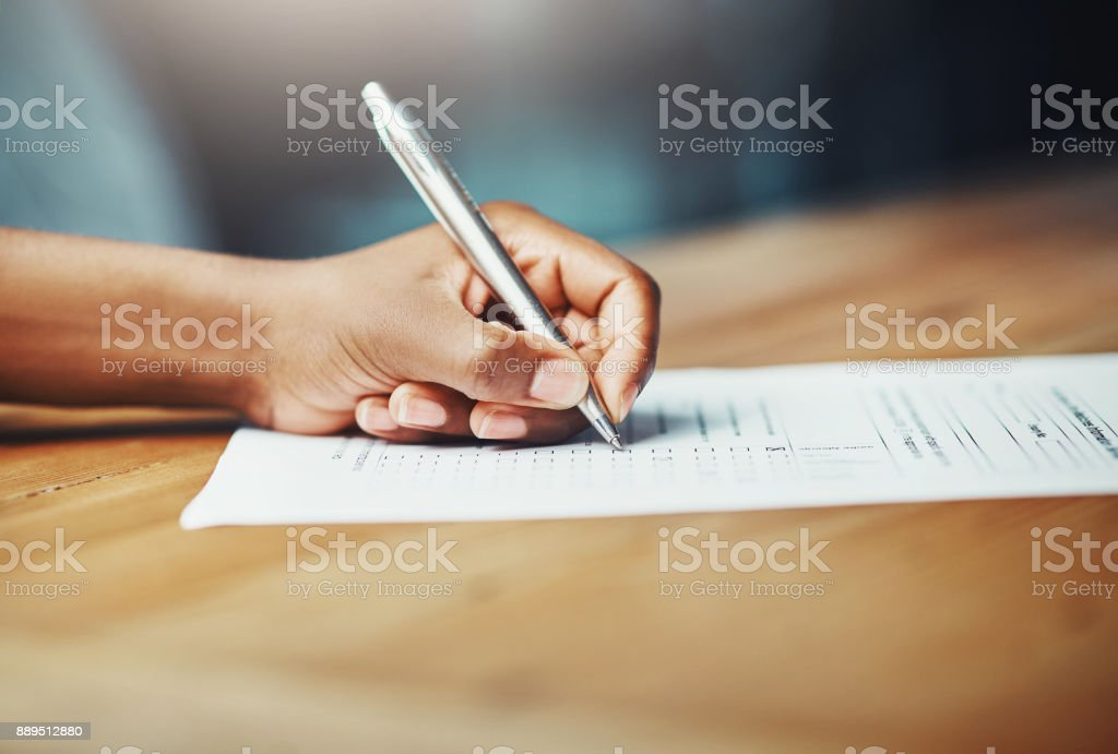 Making her mark royalty-free stock photo