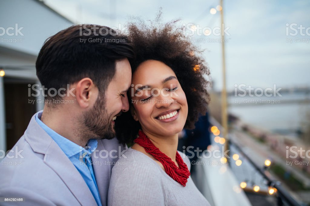 Making her smile royalty-free stock photo