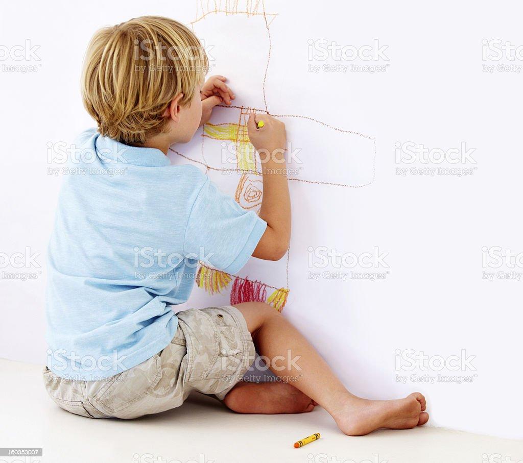 Making his mark artistically stock photo