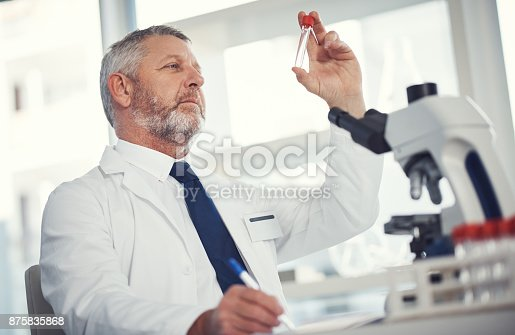 istock Making his mark in medical research 875835868