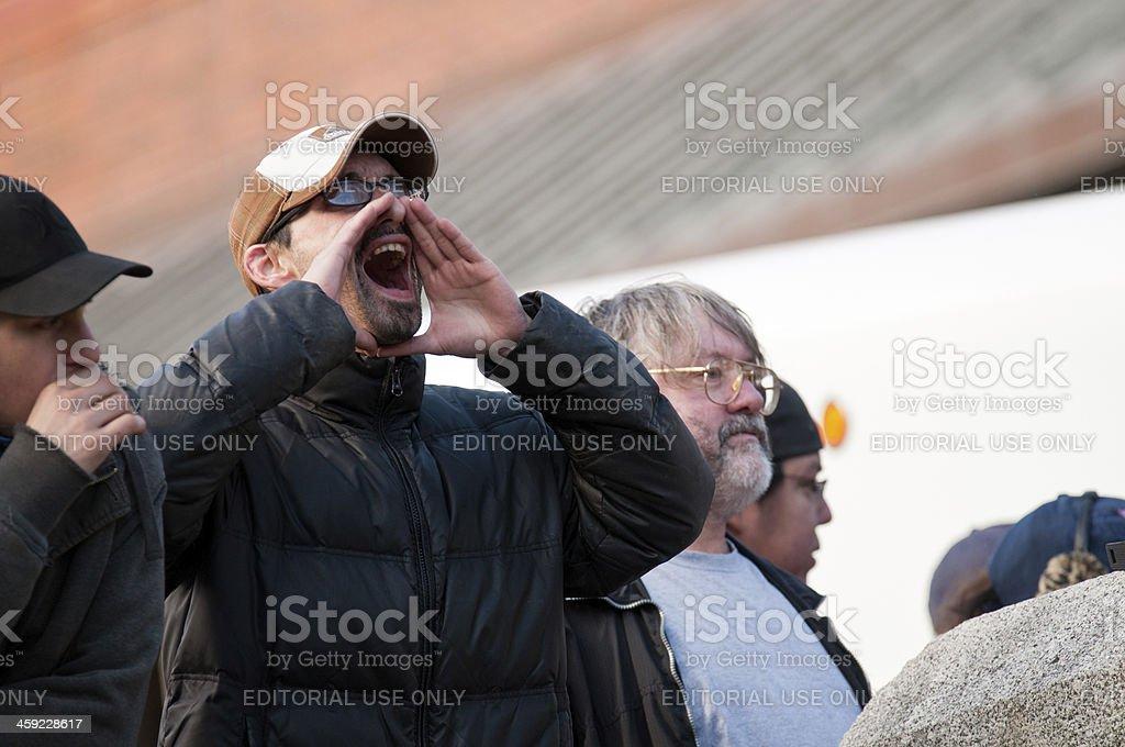 Making his Voice Heard royalty-free stock photo