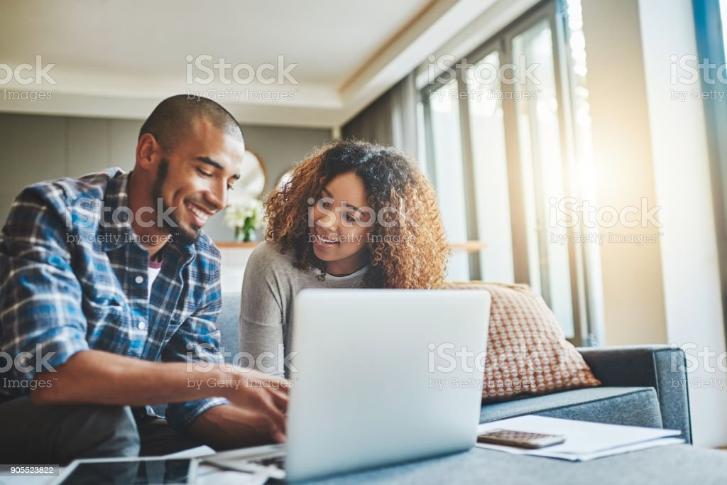 Making home financial management simpler with modern technology stock photo