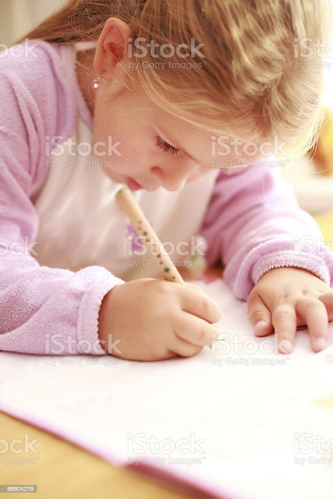 Making homework royalty-free stock photo