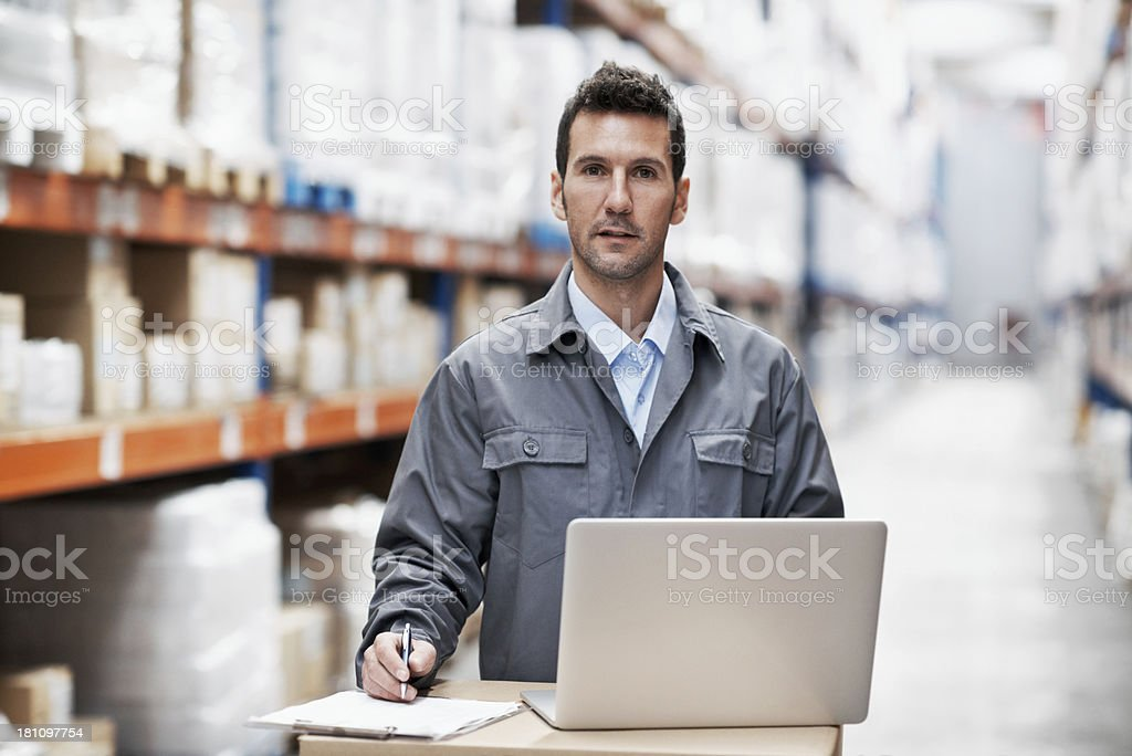 Making inventory notes royalty-free stock photo