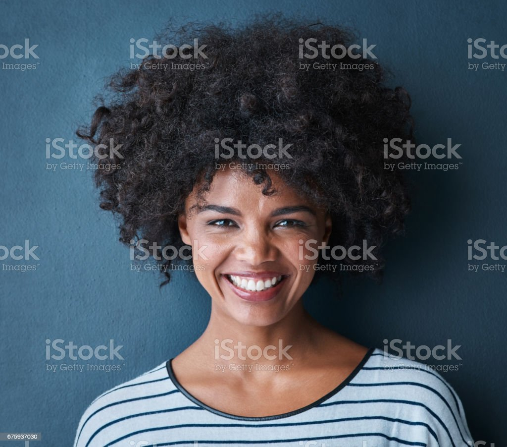 Making life beautiful one smile at a time stock photo