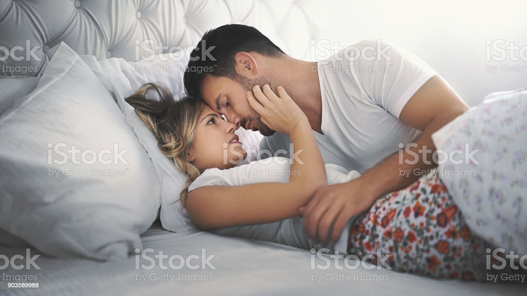 Making love phase one. stock photo