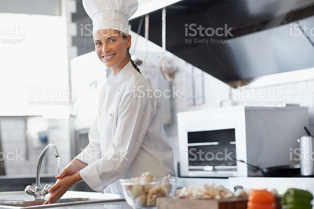 Making magic in the kitchen stock photo