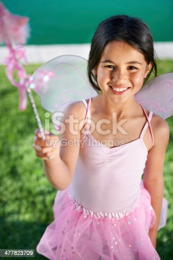 istock Making magic with her imagination 477823709