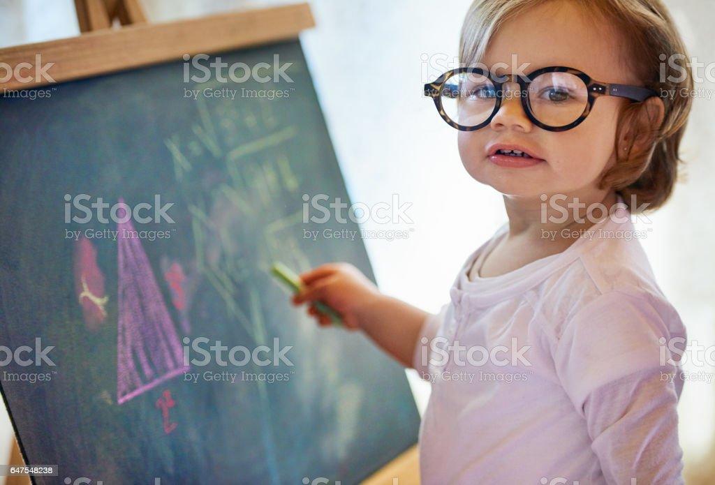 Making mathematics look like child's play stock photo