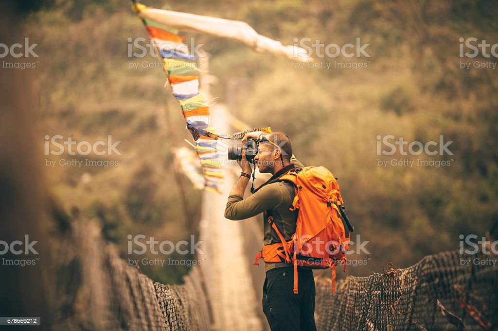 Making memories of beautiful Nepal stock photo