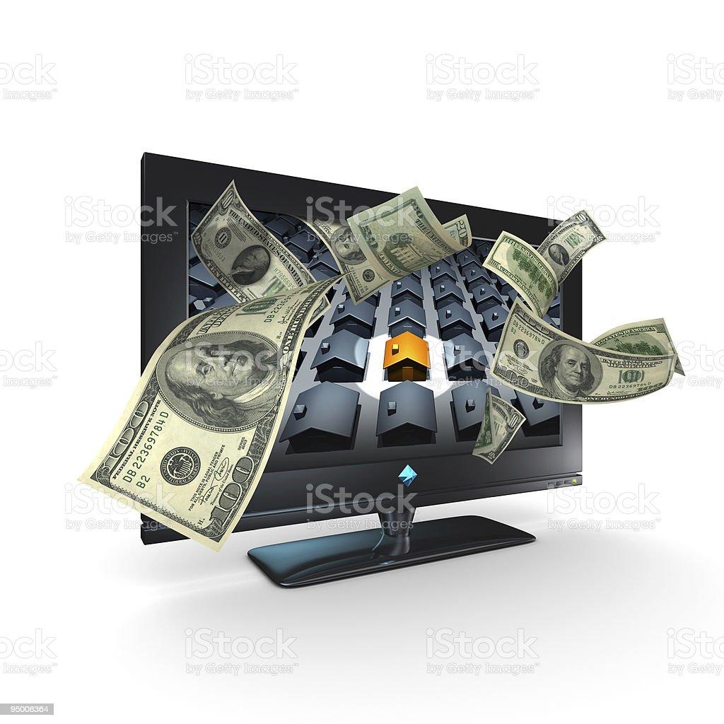 Making Money in Real Estate (XXXL) royalty-free stock photo