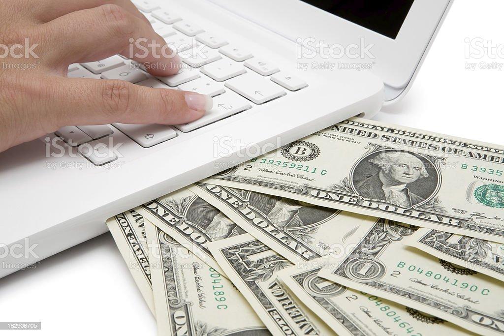 Making Money Online royalty-free stock photo