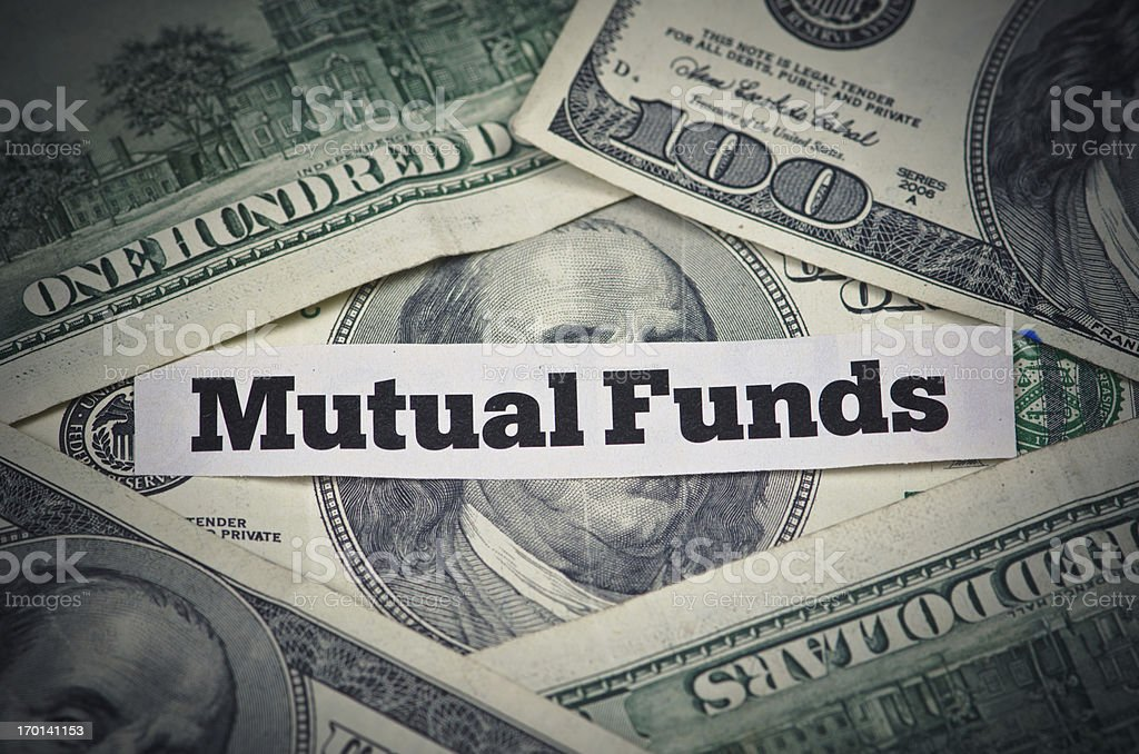 Making money with mutual funds for retirement royalty-free stock photo