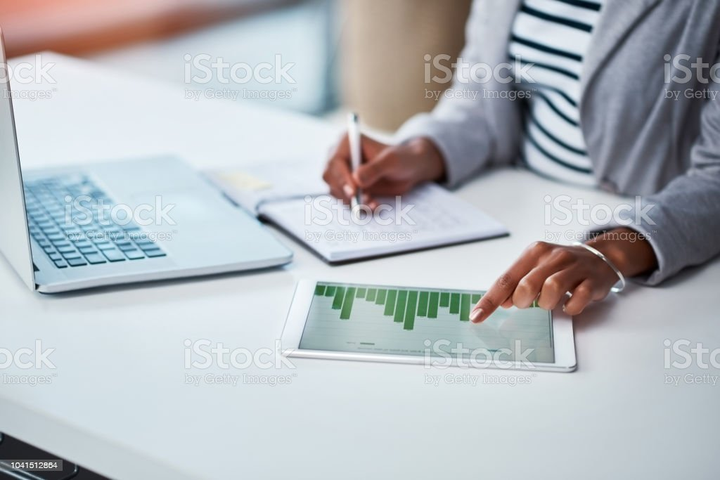 Making money work for her business stock photo