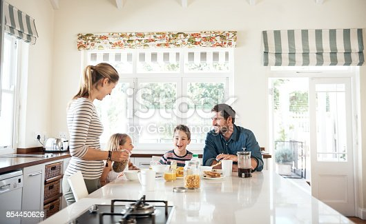 istock Making morning time family quality time 854450626
