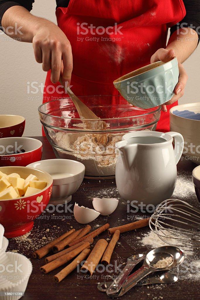 Fazer de muffins - foto de acervo