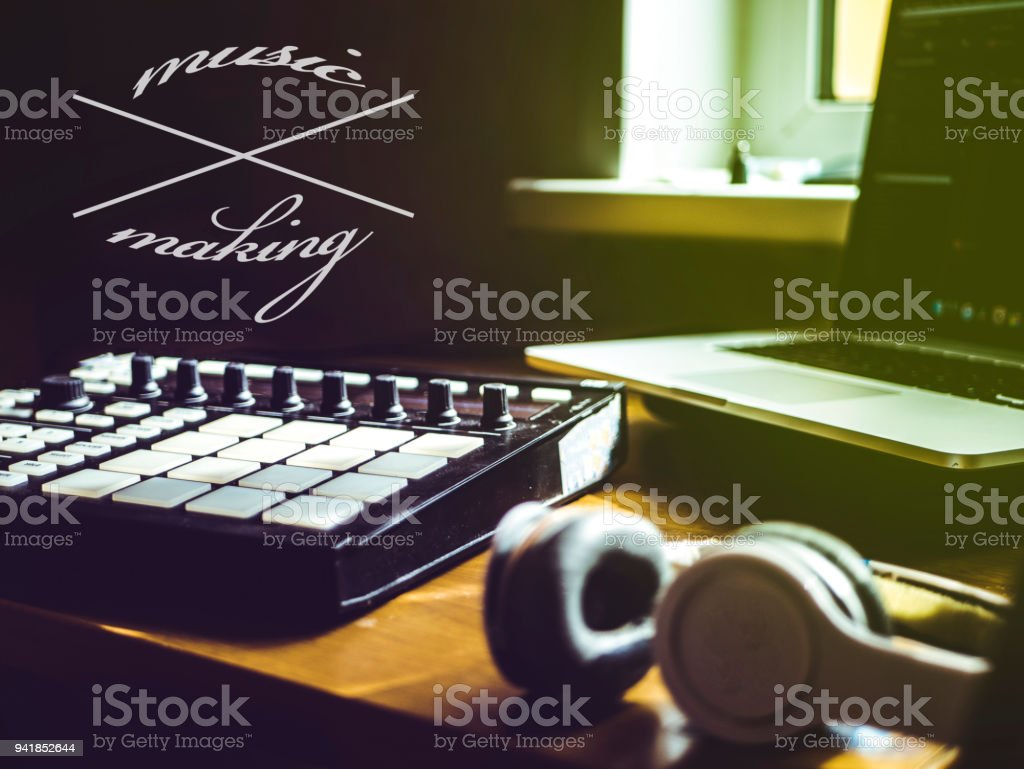 making music text copyspace music design stock photo