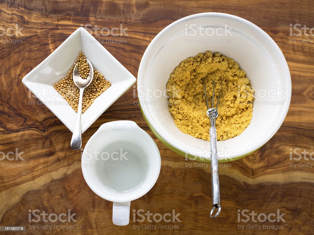 Making Mustard from seeds royalty-free stock photo
