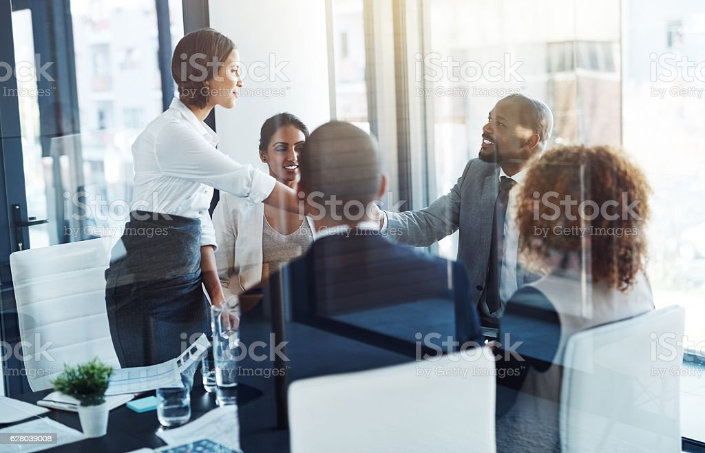Making mutually beneficial deals stock photo