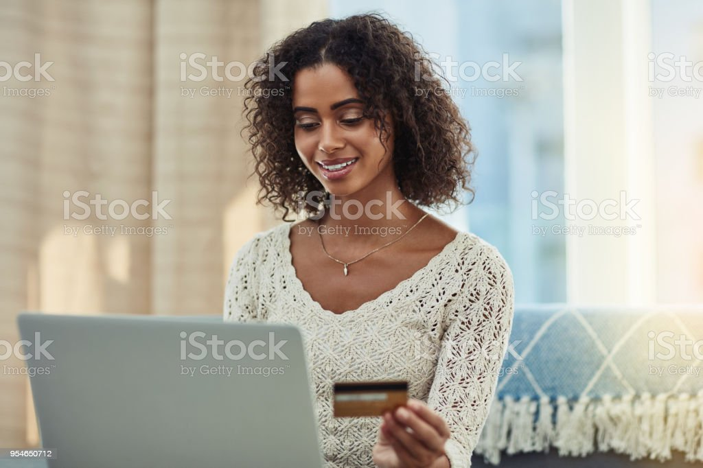 Making my monthly payments the easy way stock photo