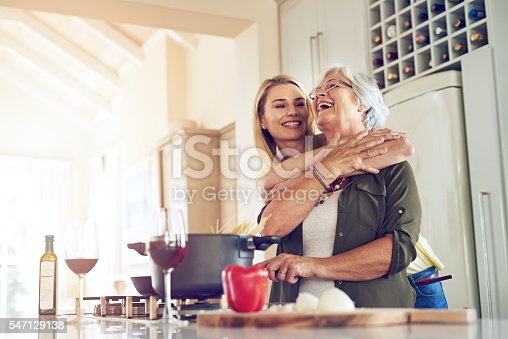 istock Making my mother happy is what makes me happiest 547129138