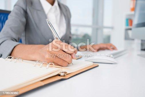 istock Making necessary notes 178609380