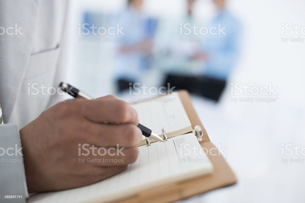 Making necessary notes royalty-free stock photo