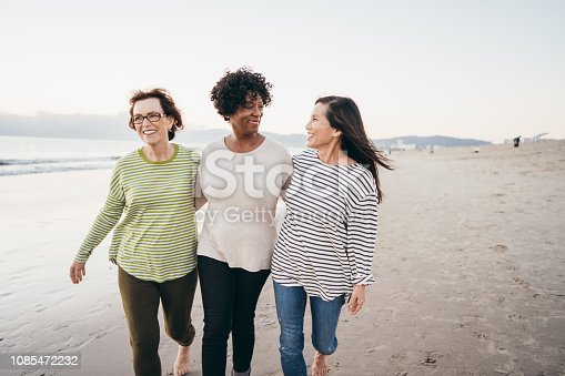 Seniors enjoying holidays on the beach
