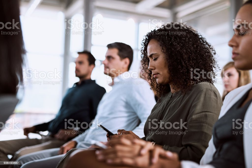 Making notes for follow up stock photo