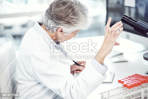887365786 istock photo Making notes on the progress of the vile 881627046