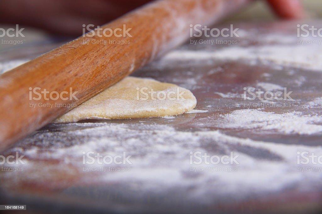 making of ravioli manti royalty-free stock photo