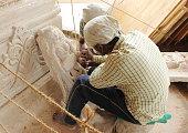 Making of sculpture - Artist at work in Amarkantak, India