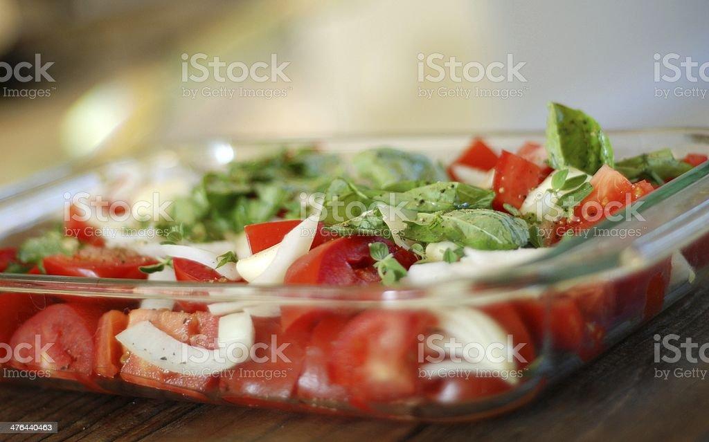 Making Organic Homemade Marinara royalty-free stock photo
