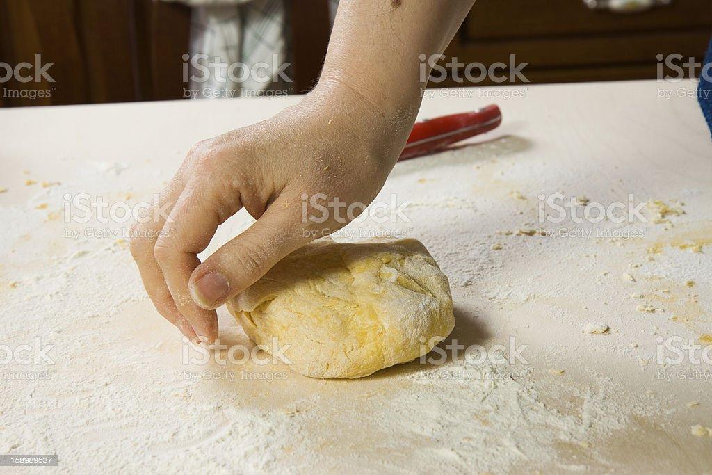 making pasta royalty-free stock photo