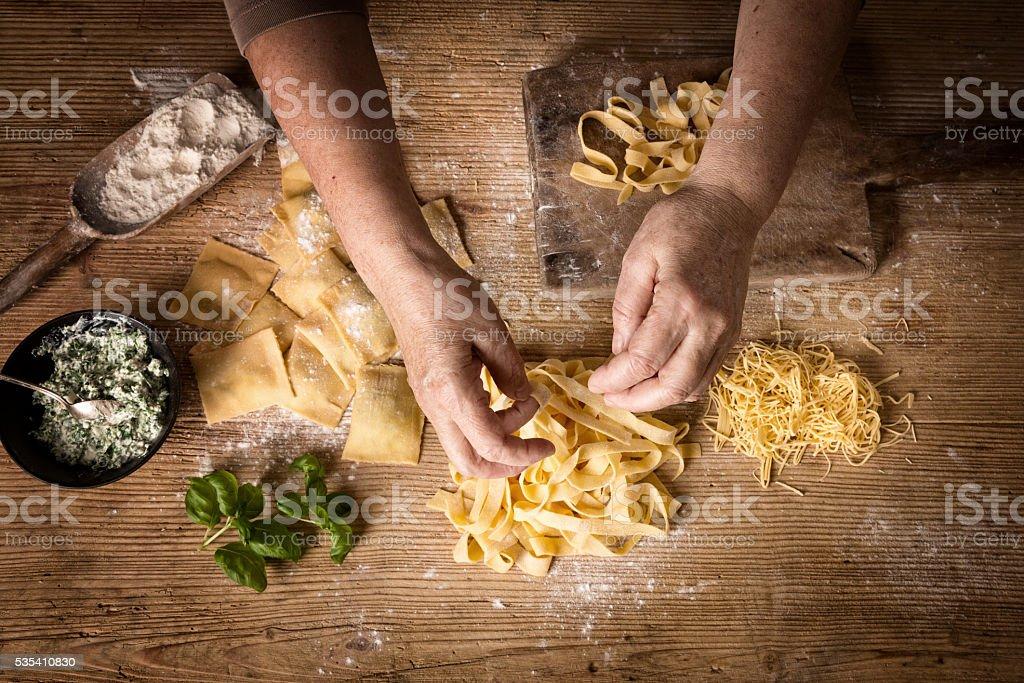 Making Pasta stock photo